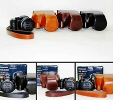 New leather case bag to Panasonic Lumix DMC-FZ200 FZ200 Digital Camera 3 colors