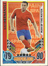 MATCH ATTAX 2012 EUROSTARS Xavi Hernandez SPAIN Man Of The Match Card No.206