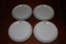 """(4) Vintage Shenango China Medical Emblem Restaurant Ware 9"""" Dinner Plates"""
