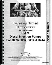International IH 3414 3444 B250 B275 B276 BC144 BC144A BD154 TD5 Service Manual