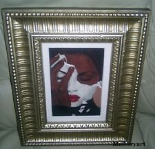 """Face Reality"" African American Art Print By Laurie Cooper Framed"