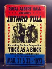 Thick As A Brick JETHRO TULL Vtg Retro Style METAL SIGN 1972 Concert Wall Decor