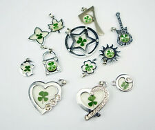 12 pcs super green Real Four Leaf Clover lucky Style lovely Pendant&Necklace