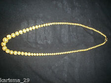 24KT GOLD DIAMOND CUT GRADUATED BEAD NECKLACE 50 gms+VINTAGE HAND MADE