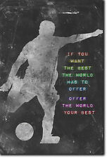 MOTIVATIONAL FOOTBALL POSTER 4 SOCCER MOTIVATION QUOTE PHOTO PRINT GIFT