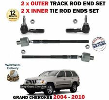 FOR JEEP GRAND CHEROKEE 2004-  2x INNER + 2x OUTER TRACK RACK TIE ROD END SET