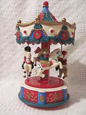 """Christmas Electronic Carousel With Lights & Music Plays 12 Melodies, 9"""" Tall"""