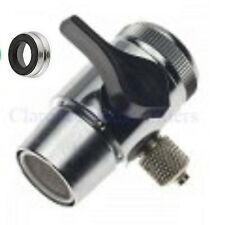 """Faucet Diverter Valve 3/8"""" compression RO, Drinking Water Filter & adapter ring"""