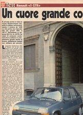 SP55 Clipping-Ritaglio 1987 Renault 5 GTR Un cuore grande così