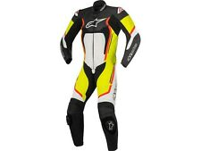 Lederkombi Alpinestars Motegi V2 1PC Einteiler black/white/yellow Gr. 54