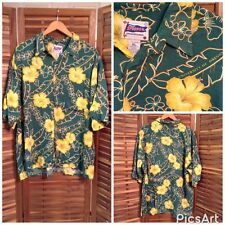 Reyn Spooner Genuine Merchandise Oregon University Ducks Hawaiian Rayon Shirt Xl