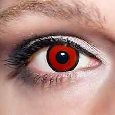 Rote Kontaktlinsen Zombie farbige Rot Motivlinsen Red Eyes Zombi Contacts;K526