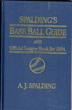 SPALDING'S BASEBALL GUIDE OFFICIAL LEAGUE BOOK 1894