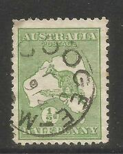 Australia 1913 Kangaroo/Map 1/2p green--Attractive Topical (1) used