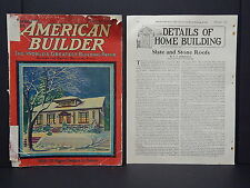 Houses, Homes, American Builder, c.1926 - Cover And Article December
