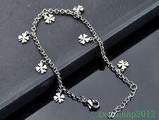 lucky Clover Pendant 316L Stainless Steel chain Anklet Bracelet JL02