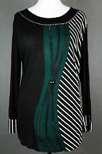 NEW WOMEN  TUNIC BLOUSE size  18/20 TOP  LONG SLEEVE  LADIES  v 3263