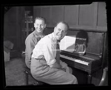 Lou Singer Ay Zaret German Composer Lyricist Music Piano Old Photo Negative 427A