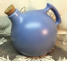 vtg 1930s Red Wing Rumrill Pottery #50 Matte Blue Ball Jug Pitcher w Stopper