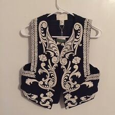 BNWT H&M Conscious Exclusive Collection Embroidered Waistcoat Vest Jacket EUR 34