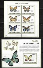 Comoro Islands 1091-92 Butterflies Mint NH