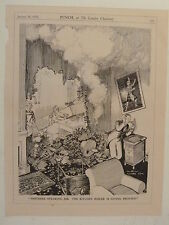 "7x10"" punch cartoon 1935 SMITHERS SPEAKING ... kitchen boiler giving trouble"