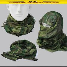 "Tactical Mesh Scarf Wrap Mask Shemagh Sniper Veil 68""x33"" Camo Black Khaki OD"