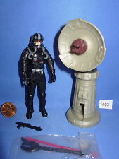 Star Wars 2005 CLONE PILOT Black Variant w/Firing Cannon 3.75 inch Figure