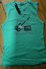 Hank made in Hollywood mint cotton vest Tshirt Vintage Rock size small crystals