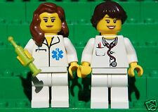 Genuine LEGO Lot of 2 FEMALE Minifigures - Doctor & Nurse - As Shown