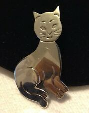 Silver Cat Pin/Pendant 925 Mexico