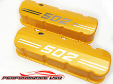 Big Block Chevy 502 Die Cast Aluminum Yellow Valve Covers