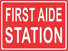 FIRST AIDE STATION ALUMINUM SIGN store- emergency, medical, clinic, office sign