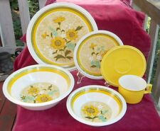 MIKASA FRESHNESS E7302 SERVING PLATE BOWL DINNER CUP 20 P DAISY RETRO A LA MODE