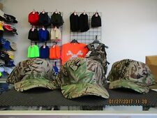 Lot of 3-5 Panel-Woodland Camo Caps/Hats-Snapback-Tan under bill-Mohr's-[3012]