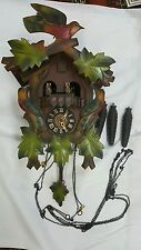 GERMAN BLACK FOREST CARVED 8 DAY MUSICAL CUCKOO CLOCK WITH DANCERS