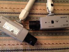 Sony CCD-IRIS Hyper HAD B&W Video Camera Pair Two SPT-M124