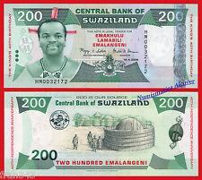 SWAZILAND 200 Emalangeni 2008 Commemorative Pick 35  SC / UNC