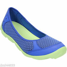 NEW CROCS Celery Green/ Sea Blue Women's Sport Duet Busy Day Ballet Flat-Size 9M