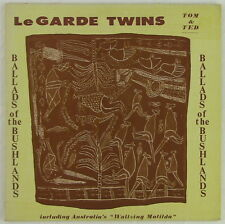 "LeGarde Twins Autographed Album ""Ballads of the Bushlands"" Great 60s Kitch"