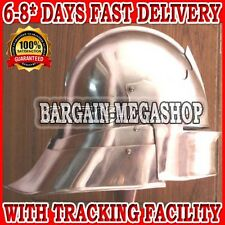 MEDIEVAL GERMAN SALLET HELMET - GOTHIC CLOSE HELM RE-ENACTMENT ROLE PLAY COSTUME
