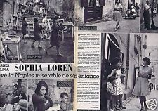 Coupure de presse Clipping 1963 Sophia Loren  (2 pages)