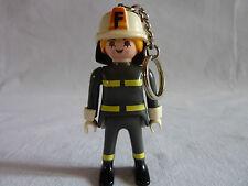 PLAYMOBIL personnage porte clé ville caserne métier la dame pompier