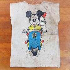 Vintage 70s Mickey Mouse Disney Distressed Trashed Thin Sheer Muscle T Shirt RAD