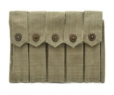 US WW2 Thompson 5 Cell Magazine Pouch Marked JT&L 1943