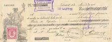 Letra de cambio. Banco de España (Valladolid). 1 de Junio de 1906.