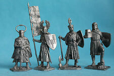 Tin toy soldiers knights set#1 54 mm exclusive collection figures