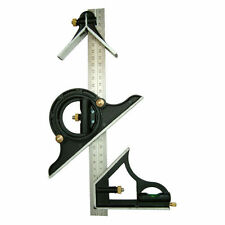 "300MM ADJUSTABLE COMBINATION SQUARE ENGINEERS 12"" SQUARE ANGLE SPIRIT LEVEL NEW"