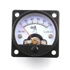 1PC 45mm DC100mA Moving Coil Panel Meter For KT88 2A3 300B Vintage Tube Audio