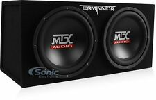 "MTX TNE212D Dual 12"" 400W RMS Terminator Loaded Subwoofer Bass Enclosure System"